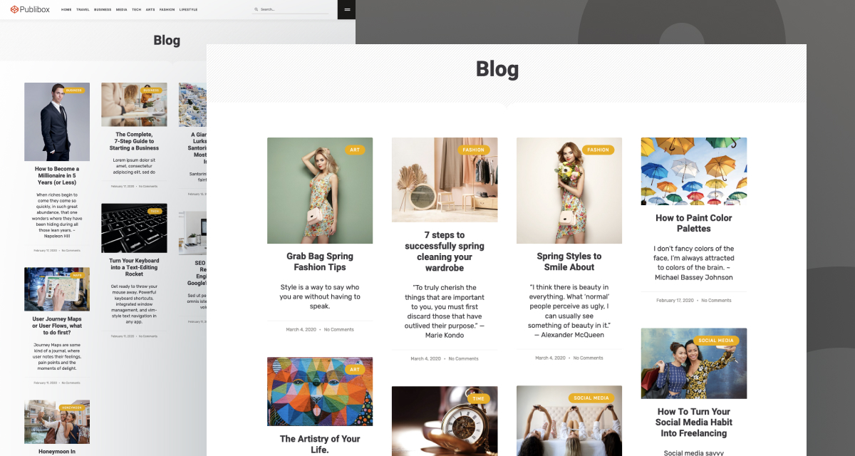 Publibox - Blog, News & Magazine Elementor Template Kit - 3