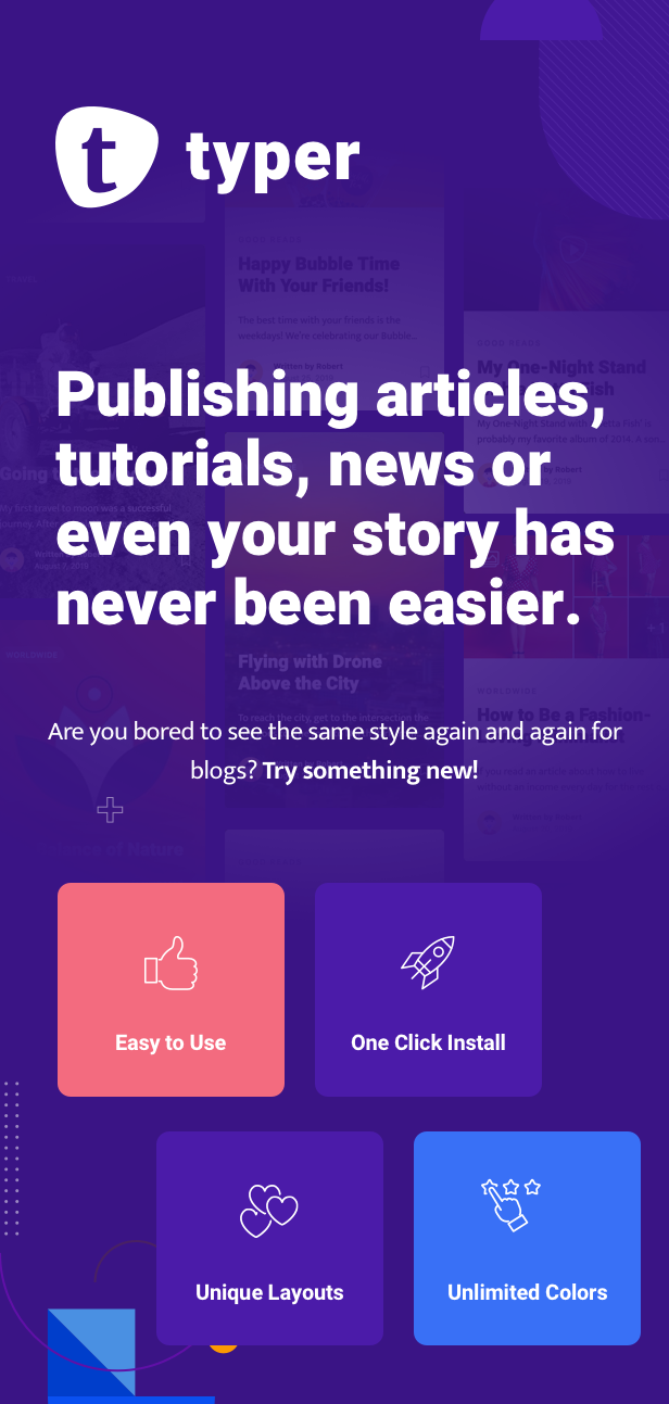 Typer - Amazing Blog and Multi Author Publishing Theme - 1